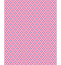 Seamless love pattern Pink hearts and blue squares vector image
