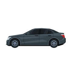 sedan car side view transportation vehicle flat vector image