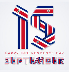 september 15 costa rica independence day vector image
