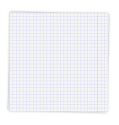 sheet paper in a cage vector image