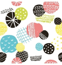 Simple scandinavian pattern with decorative vector image