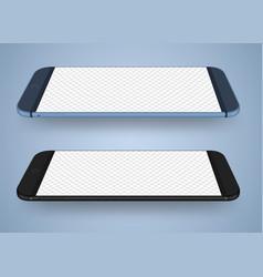 smartphone mockup transparent screen vector image