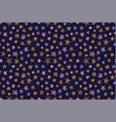 Space stars sketch seamless pattern hand drawn vector
