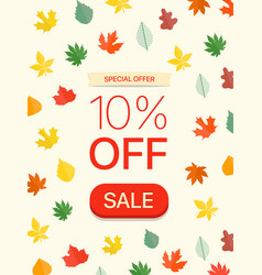 special offer concept ten percent off vector image