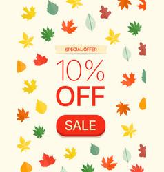 Special offer concept ten percent off vector