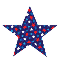 Star with star pattern vector