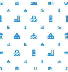 structure icons pattern seamless white background vector image
