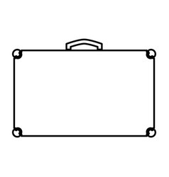 suitcase black color icon vector image