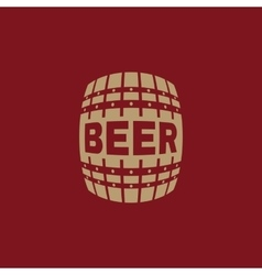 The beer icon cask and keg alcohol beer symbol vector