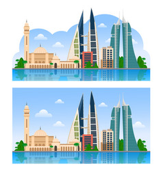 travel to bahrain manama vector image