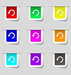 Upgrade arrow update icon sign set of multicolored vector