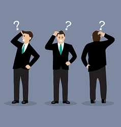 Various confused businessman vector image