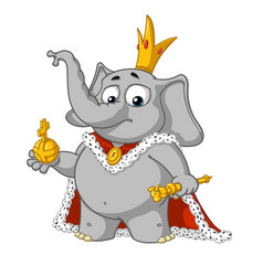 big collection cartoon the proud king vector image