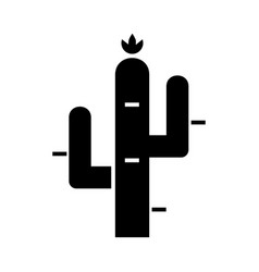 cactus icon black sign on vector image