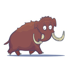 Cartoon Mammoth isolated on white background vector image