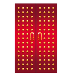 doors imperial red vector image