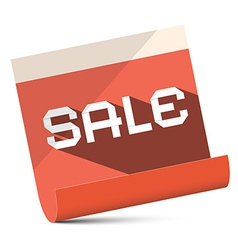 Sale - Red Paper vector image vector image