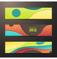 set of abstract colorful banners three background vector image