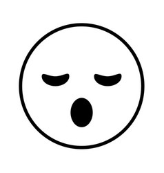 sleepy cartoon face design vector image vector image