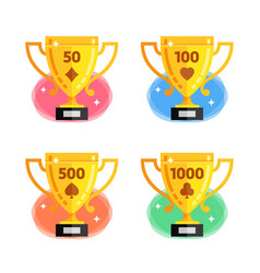 awards for the winner in playing cards with vector image