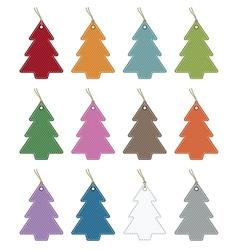 christmas tree tags vector image