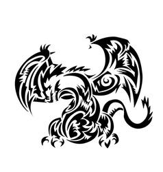 Dragon tatoo Tribal vector image