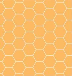 honeycomb hexagonal pattern vector image vector image