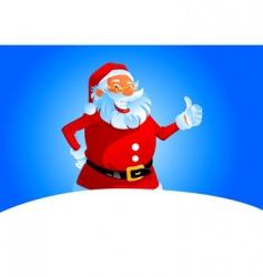Santa thumbs up vector image vector image