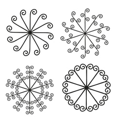 set of elements for design - spiral curls vector image vector image