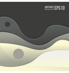 Abstract grey light background forms a smooth vector image vector image