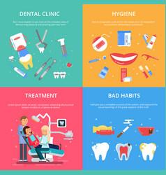 dentist reception healthcare concept vector image vector image