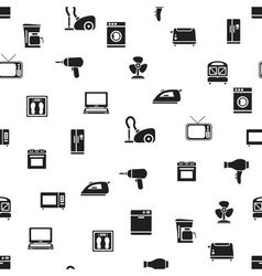 Home appliance seamless pattern vector