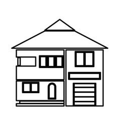 House black color icon vector