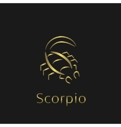 Scorpio Zodiac sign vector image