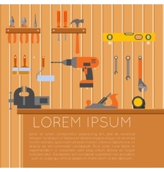 Tool shed banner1 vector image vector image