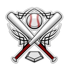 baseball emblem for sports design or mascot vector image vector image