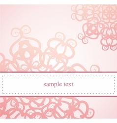 Classic elegant floral card or ornament invitation vector image