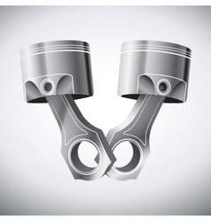Engine pistons vector
