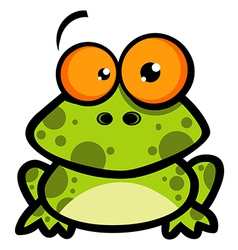 Little Frog Cartoon Character vector image vector image