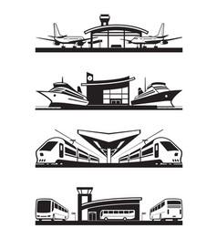 passenger transport terminals vector image