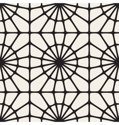 Seamless Black and White Mosaic Lace vector image