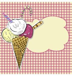 stylized ice cream vector image