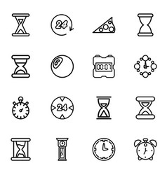 16 hour icons vector image