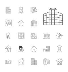 22 estate icons vector