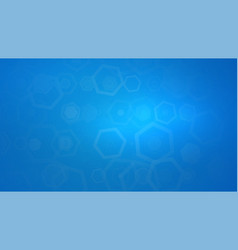 abstract blue background with hexagonal vector image