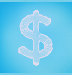 abstract mesh background dollar sign vector image