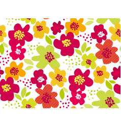 abstract summer tropical flower seamless pattern vector image