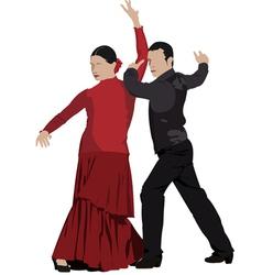 Al 0303 flamenco dancers vector