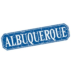 Albuquerque blue square grunge retro style sign vector