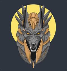 Anubis lord egypt mythology character design vector